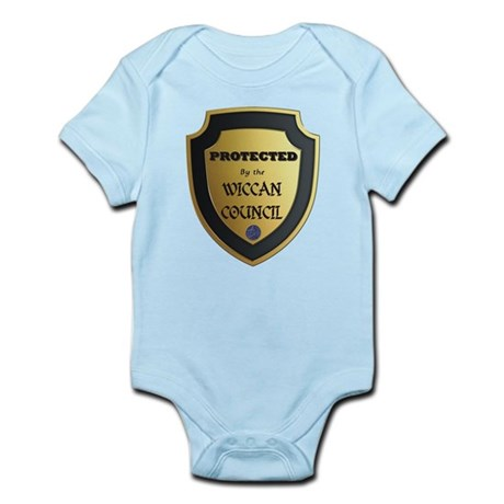 protected by wiccan.png Infant Bodysuit