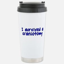 I survived a craniotomy - Travel Mug