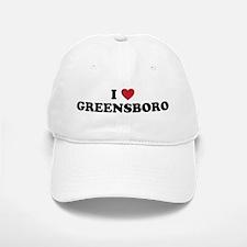 I Love Greensboro North Carolina Baseball Baseball Cap