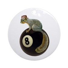 Squirrel on 8 Ball Ornament (Round)