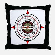Compass 2012 Throw Pillow