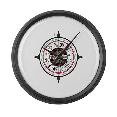 Compass 2012 Large Wall Clock