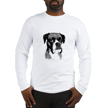 Boxer Happy Face dark Long Sleeve T-Shirt