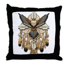 Aplomado Falcon Dreamcatcher Throw Pillow