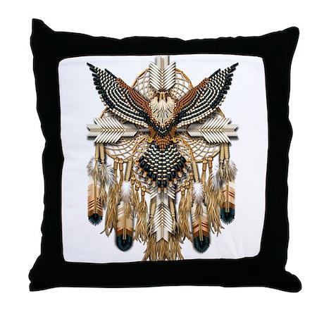 Aplomado Falcon Dreamcatcher Throw Pillow