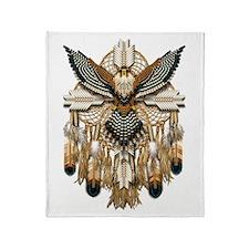 Aplomado Falcon Dreamcatcher Throw Blanket