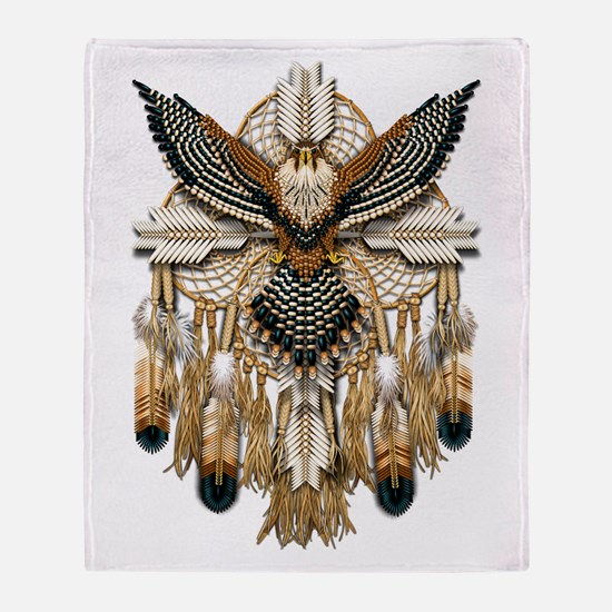Aplomado Falcon Dreamcatcher Throw Blanket