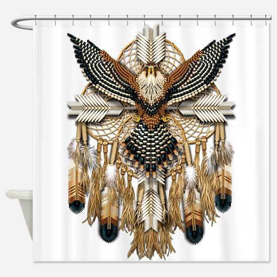 Aplomado Falcon Dreamcatcher Shower Curtain