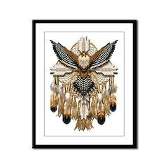 Aplomado Falcon Dreamcatcher Framed Panel Print
