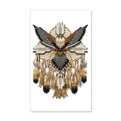 Aplomado Falcon Dreamcatcher 22x14 Wall Peel