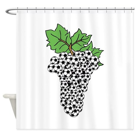 Soccer grapes Shower Curtain
