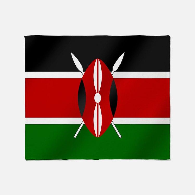 Flag of Kenya Throw Blanket