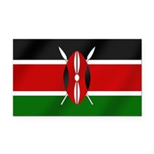 Flag of Kenya Rectangle Car Magnet