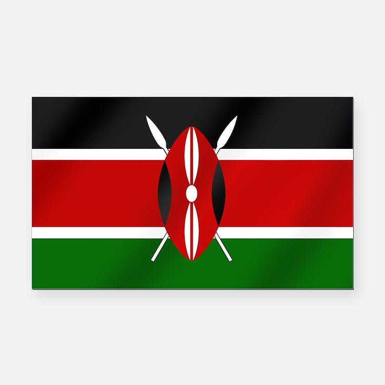 Flag of Kenya Rectangle Car Magnet