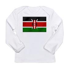 Flag of Kenya Long Sleeve Infant T-Shirt