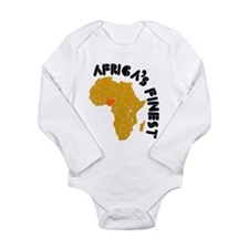 Nigeria Africa's finest Long Sleeve Infant Bodysui