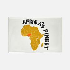 Nigeria Africa's finest Rectangle Magnet