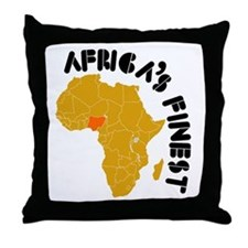 Nigeria Africa's finest Throw Pillow