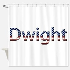 Dwight Stars and Stripes Shower Curtain