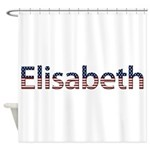 Elisabeth Stars and Stripes Shower Curtain