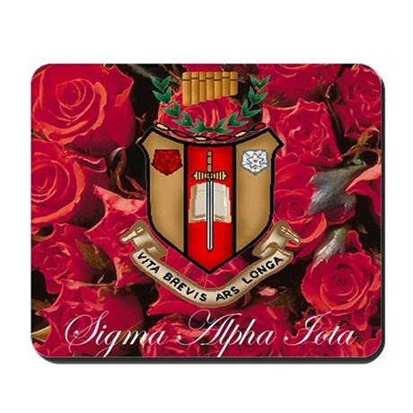 Roses and Crest Mousepad