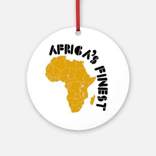 Rwanda Africa's finest Ornament (Round)