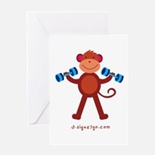 Weight Lifting Gear Greeting Card