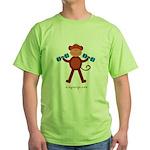 Weight Lifting Gear Green T-Shirt