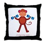 Weight Lifting Gear Throw Pillow