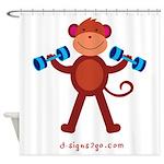 Weight Lifting Gear Shower Curtain