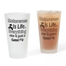 Motorcross Is Life Drinking Glass
