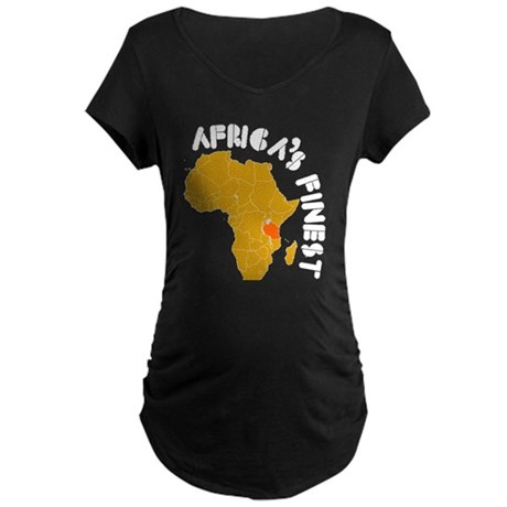 Tanzania Africa's finest Maternity Dark T-Shirt