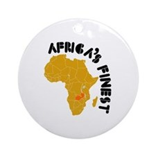 Zambia Africa's finest Ornament (Round)