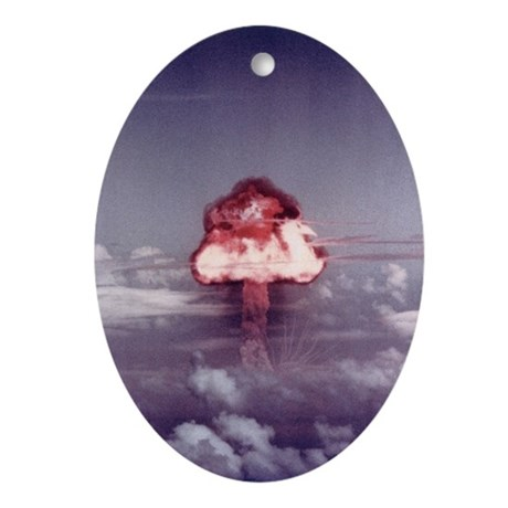 King Nuclear Test Oval Ornament