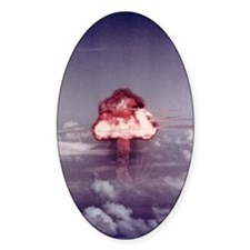 King Nuclear Test Oval Decal