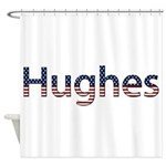 Hughes Stars and Stripes Shower Curtain