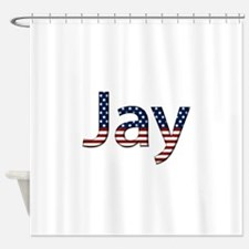 Jay Stars and Stripes Shower Curtain