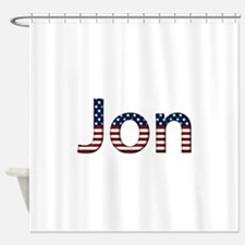 Jon Stars and Stripes Shower Curtain