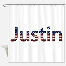 Justin Stars and Stripes Shower Curtain