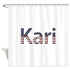 Kari Stars and Stripes Shower Curtain