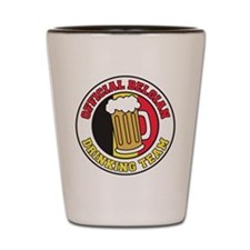 Belgian Drinking Team Shot Glass