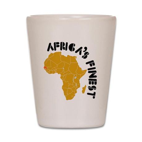 Senegal Africa's finest Shot Glass