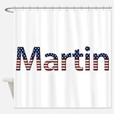 Martin Stars and Stripes Shower Curtain