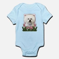 Mothers Day Pink Tulips Bichon Infant Bodysuit