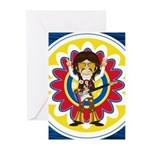 Funky Hippie Rock Star Greeting Cards (Pk of 10)