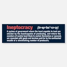Ineptocracy Definition Bumper Bumper Sticker