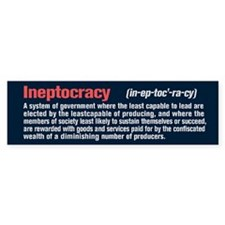 Ineptocracy Definition Bumper Stickers