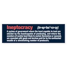 Ineptocracy Definition Car Sticker