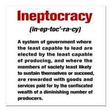 "Ineptocracy Definition Square Car Magnet 3"" x 3"""