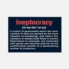 Ineptocracy Definition Rectangle Magnet